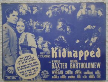 Kidnapped, Flyer/Herald, Warner Baxter, '38